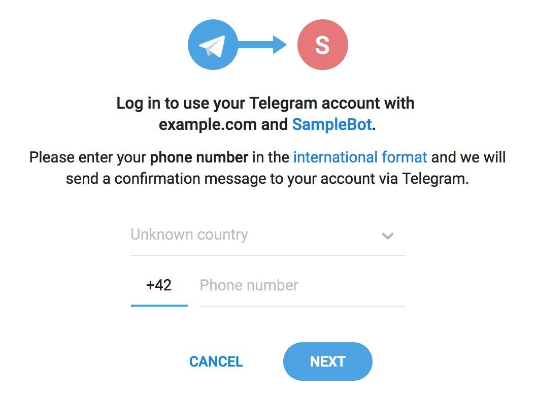 Telegram Login Widget