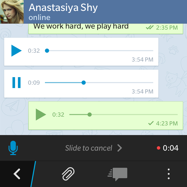 Sending Voice Messages